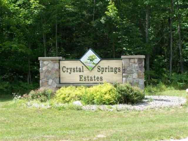 Lot #32 Crystal Springs Estates Lot #32 Cadillac MI, 49601